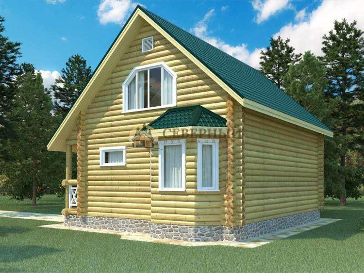 Рубленный дом из бревна