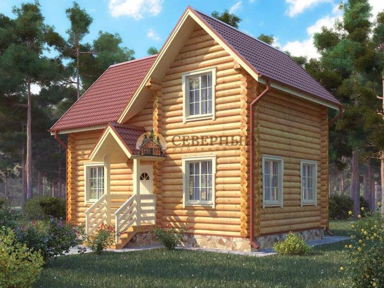 дом из бревна под ключ недорого